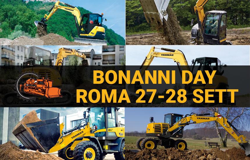 Bonanni Day 27-28 Settembre: il primo test drive Yanmar a Roma