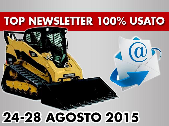 TOP Newsletter 100% Usato - 24 -28 Agosto 2015