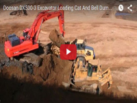 Video: Cat D7R a lavoro con Doosan DX530-3 e dumper B40D ADT Bell