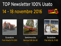 TOP Newsletter 100% Usato - 14- 18 novembre 2016