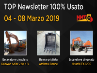 TOP Newsletter 100% Usato - 04 - 08 Marzo 2019