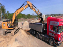 Video: Cat 329E con GPS Trimble 3D e Scania 144 V8 6x2