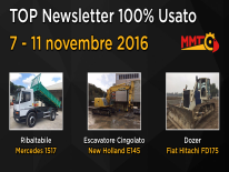 TOP Newsletter 100% Usato - 7- 11 novembre 2016