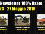 TOP Newsletter 100% Usato - 23- 27 Maggio 2016