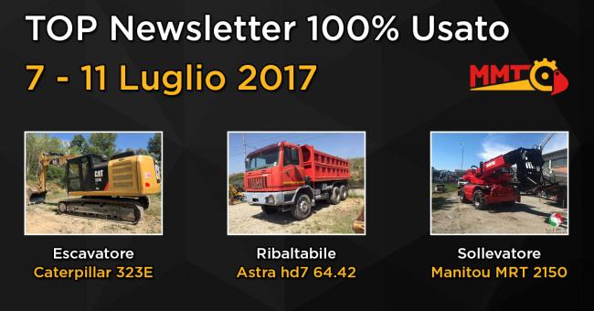 TOP Newsletter 100% Usato - 7 - 11 Agosto 2017