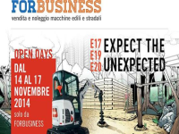 FORbusiness: Open Days 14/17 novembre 2014