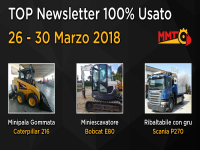 TOP Newsletter 100% Usato - 26 - 30 Marzo 2018