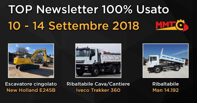 TOP Newsletter 100% Usato - 10 - 14 Settembre 2018