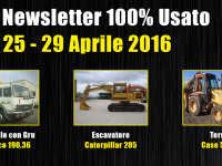 TOP Newsletter 100% Usato - 25 - 29 Aprile 2016