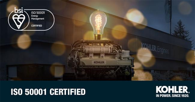 Kohler Engines ottiene la certificazione ISO 50001