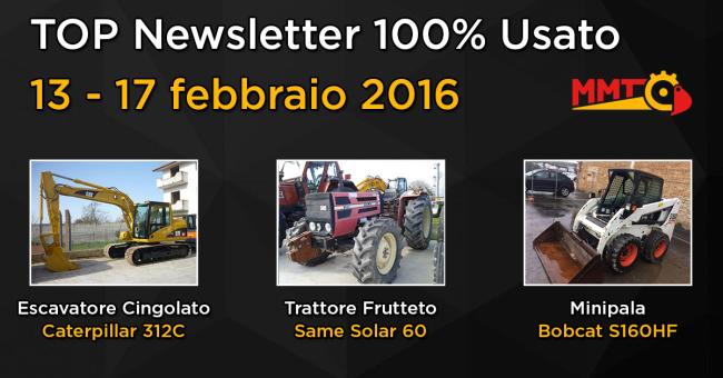 TOP Newsletter 100% Usato - 13- 17 febbraio 2016