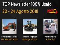 TOP Newsletter 100% Usato - 20 - 24 Agosto 2018
