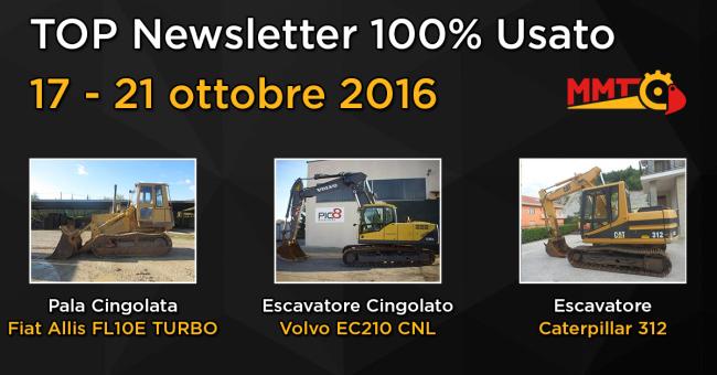 TOP Newsletter 100% Usato - 17- 21 ottobre 2016