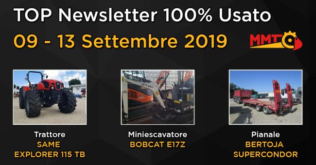 TOP Newsletter 100% Usato - 09 - 13 Settembre 2019