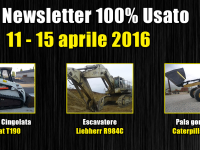 TOP Newsletter 100% Usato - 11 - 15 Aprile 2016