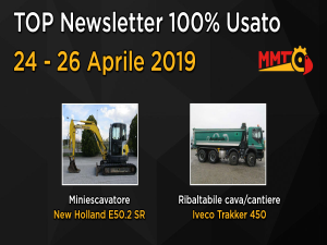 TOP Newsletter 100% Usato - 24 - 26 Aprile 2019