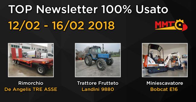 TOP Newsletter 100% Usato - 12- 16 Febbraio 2018