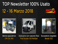 TOP Newsletter 100% Usato - 12 - 16 Marzo 2018