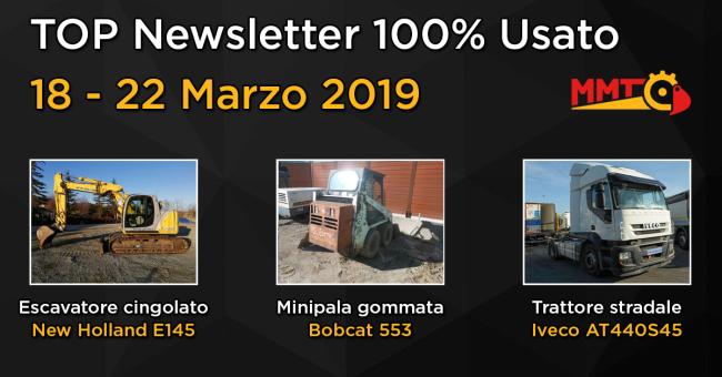 TOP Newsletter 100% Usato - 18 - 22 Marzo 2019