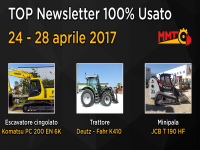 TOP Newsletter 100% Usato - 24 - 28 aprile 2017