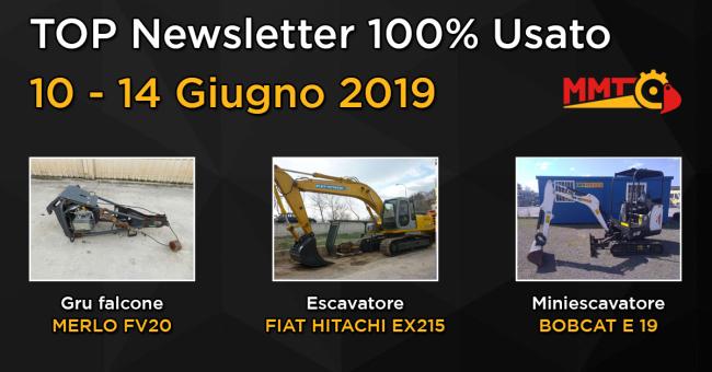 TOP Newsletter 100% Usato - 10 - 14 Giugno 2019