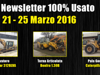 TOP Newsletter 100% Usato - 21 - 25 Marzo 2016