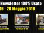 TOP Newsletter 100% Usato - 16- 20 Maggio 2016
