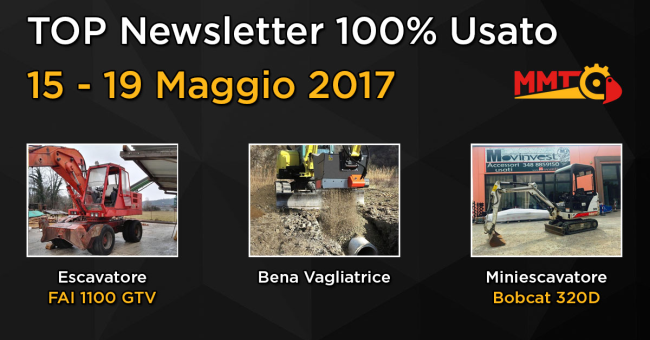 TOP Newsletter 100% Usato - 15 - 19 maggio 2017