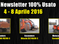 TOP Newsletter 100% Usato - 4 - 8 Aprile 2016