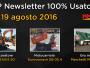 TOP Newsletter 100% Usato - 17- 19 agosto 2016