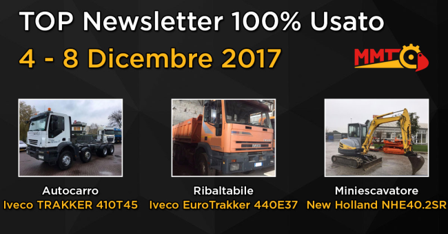 TOP Newsletter 100% Usato - 04 - 08 Dicembre 2017