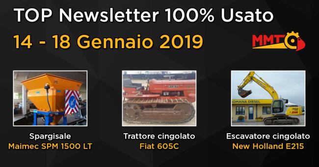 TOP Newsletter 100% Usato - 14 - 18 Gennaio 2019
