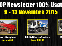 TOP Newsletter 100% Usato - 9- 13 Novembre 2015