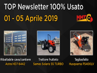 TOP Newsletter 100% Usato - 01 - 05 Aprile 2019