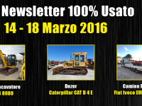 TOP Newsletter 100% Usato - 14 - 18 Marzo 2016