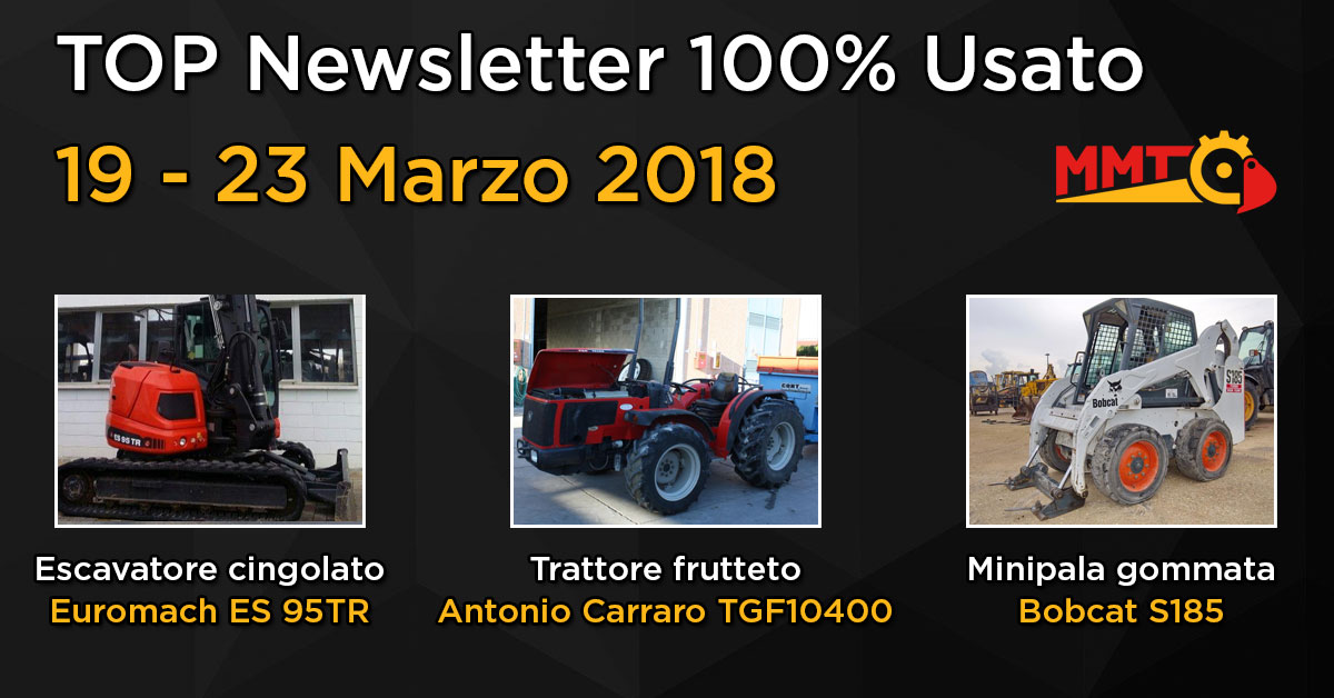 TOP Newsletter 100% Usato -19 - 14 Marzo 2018